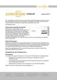 Ausgabe 01/2012 - patentGate GmbH