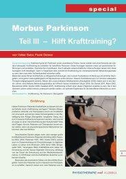 M. Parkinson und Krafttraining - FOMT