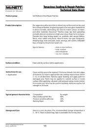 Tenacious Sealing & Repair Patches Technical ... - McNett Europe