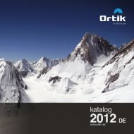 Ortik Catalogue 2012 DE - Ortik - For Alpine Use