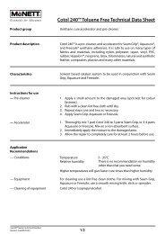 Cotol 240™ Toluene Free Technical Data Sheet - McNett Europe