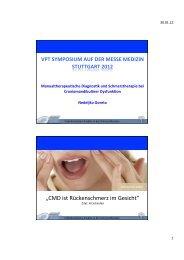 Manualtherapeutische Diagnostik und Schmerztherapie bei ... - FOMT