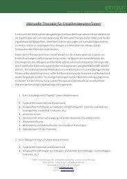 Manuelle Therapie für Ergotherapeuten/innen - FOMT