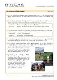Ausrüstungskontrollblatt (Deutsch) - R'ADYS Mountain Marathon