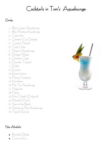 Toms Cocktailrezepte - Gassipods