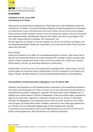 Jahresrückblick 2009 - BPW Bern