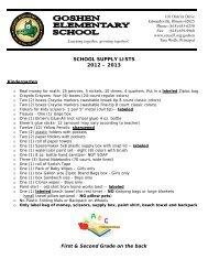 SCHOOL SUPPLY LISTS 2012 - Edwardsville School District 7