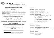 Journe CoRoMa 2006 - 10 ans du Centre Saint-Martin - Collège ...