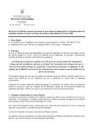 Directives, Classeur AVMCT, Association Vaudoise des Médecins ...