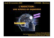 L'ADDICTION : une science en expansion