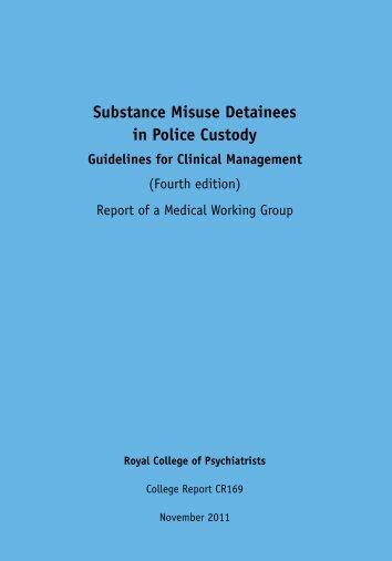 Substance Misuse Detainees in Police Custody - EMCDDA - Europa