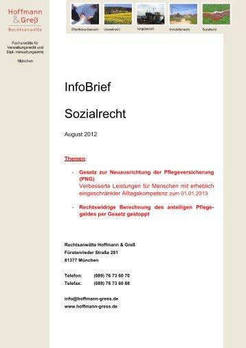 InfoBrief Sozialrecht - Elternrunde Down-syndrom Regensburg