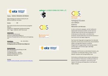 Samstag, den 19.10.2013 in Dortmund - Autismus Köln-Bonn eV