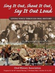 2012 Program - Oral History Association