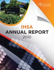 IHSA Annual Report 2010 - Infrastructure Health & Safety Association