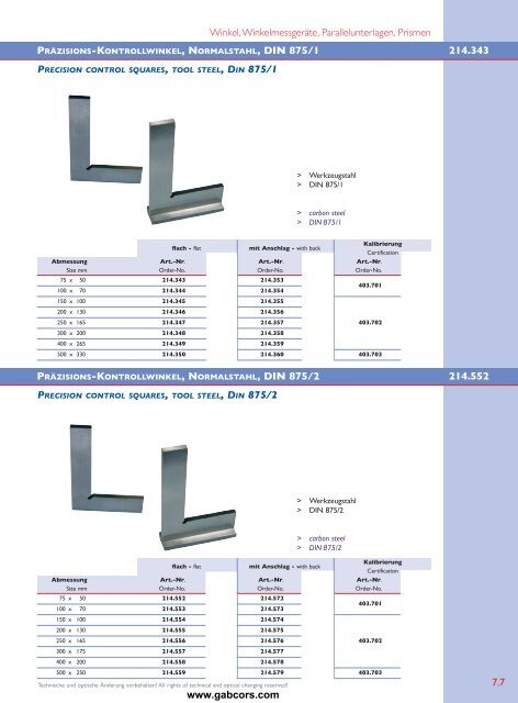 Winkel, Winkelmessgeräte, Lineale, Parallelunterlagen, Prismen ...