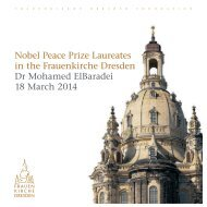 Nobel Peace Prize Laureates in the Frauenkirche Dresden - Dr Mohamed ElBaradei - 18/03/2014
