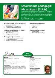 Utforskande pedagogik för små barn (1-3 år) - Lärarfortbildning