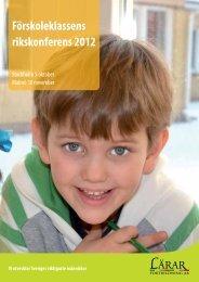 Förskoleklassens rikskonferens 2012 - Lärarfortbildning