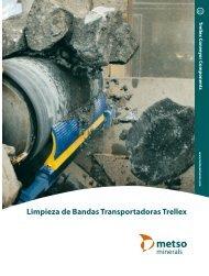 Limpieza de bandas transportadoras Trellex - Metso
