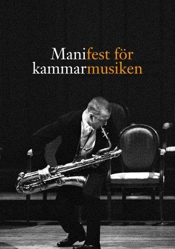 Manifest för kammarmusiken - Kungl. Musikaliska Akademien