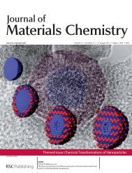Journal of Materials Chemistry 21, 11498 (2011) - Robinson Group