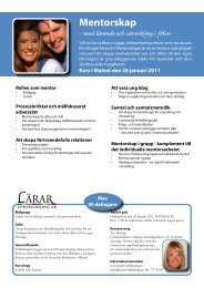Mentorskap Mentorskap - Lärarfortbildning