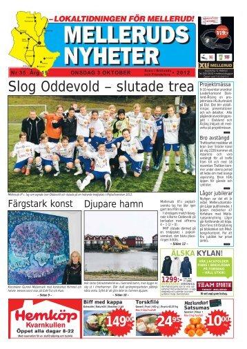 Slog Oddevold – slutade trea - Melleruds Nyheter