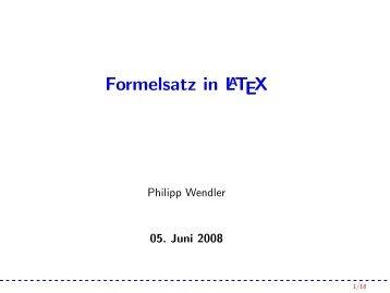Formelsatz in LaTeX - IEEE Student Branch Passau
