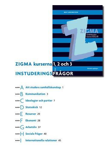 Zigma 1, 2 och 3 Instuderingsfrågor (pdf) - Liber AB