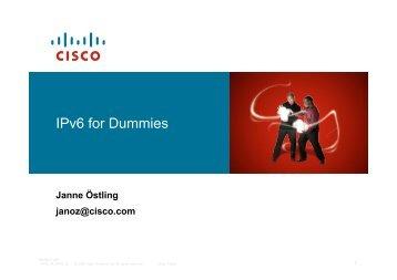 IPv6 for Dummies - Internetdagarna 081021