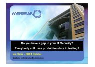 Do you have a gap in your IT Security? Everybody ... - Internetdagarna
