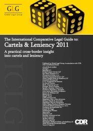 Cartels & Leniency 2011 - Setterwalls