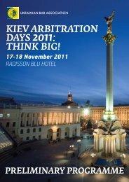 KIEV ARBITRATION DAYS 2011: THINK BIG! - Setterwalls