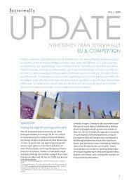 EU & konkurrensrätt - Setterwalls