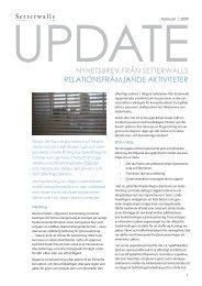 Relationsfrämjande aktiviteter - Setterwalls