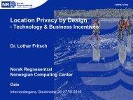 Location privacy by Design - Internetdagarna