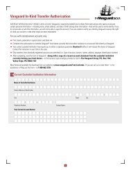 Vanguard In-Kind Transfer Authorization Form