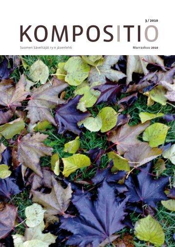 Kompositio 03 / 2010 - Suomen Säveltäjät ry