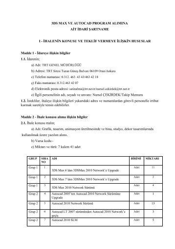 idari - TRT