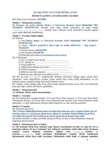 2013_8986_sozlesme_tasarisi - TRT