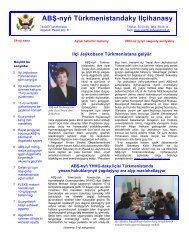 August-Sentýabr 2003 - ABŞ-nyň Ilçihanasy Aşgabat, Türkmenistan