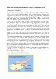 Measures to prepare the reunification of Northern and ... - munol