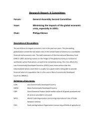 Research Report: II Committee: - MUNOL