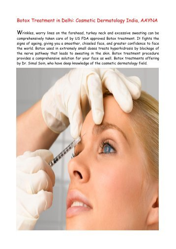 Botox Anti Aging Treatments in Delhi