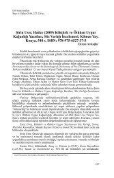 Şirin User, Hatice (2009) Köktürk ve Ötüken Uygur ... - Dil Arastirmalari