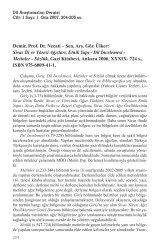 Demir, Prof. Dr. Necati – Şen, Arş. Gör. Ülker ... - Dil Arastirmalari