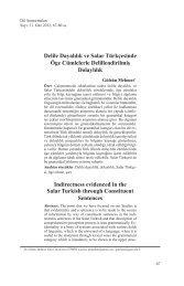Delile Dayalılık ve Salar Türkçesinde Öge ... - Dil Arastirmalari