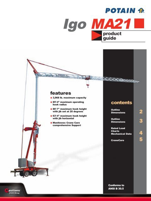 Igo MA21 - Tipton Cranes, LLC