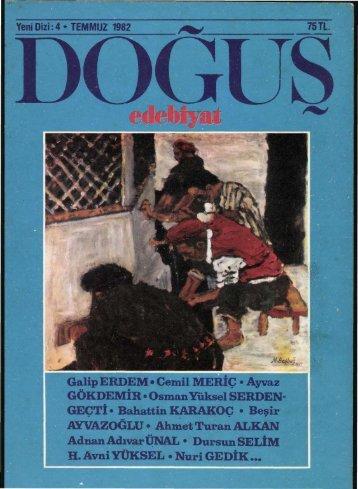 Galip ERDEM* Cemil MERİÇ • Ayvaz GÖKDEMİR • Osman Yüksel ...